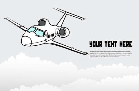 aviations: passenger airplane in the sky Illustration