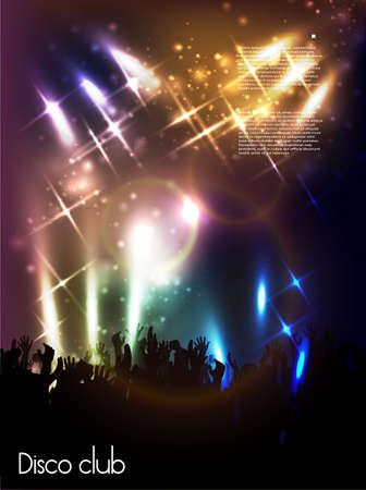 nightclub crowd: Evening in night club  vector background