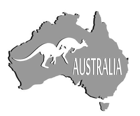 Australian continent Vector