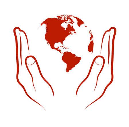 planeet in handen