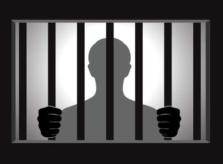 convicted: silhouette of the person in the conclusion