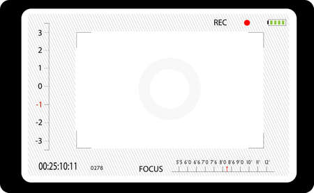 aperture grid: Video camera the image via the view-finder Illustration