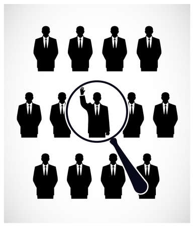 people are under the magnifying glass Vector