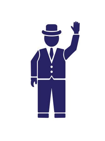 englishman: silhouette of an English gentleman