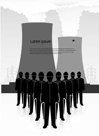 nuclear waste: people against the nuclear power plant power unit