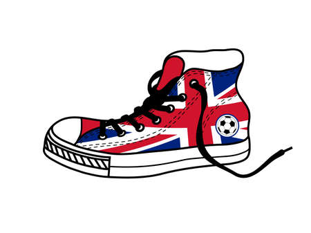 drawing old athletic shoes Illustration