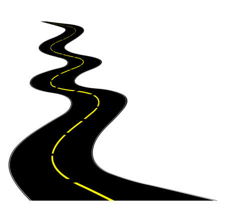 curve road: road on a white background for your design