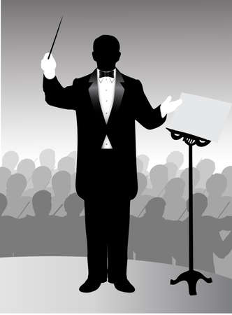 carrying out: Managing orchestra conductor