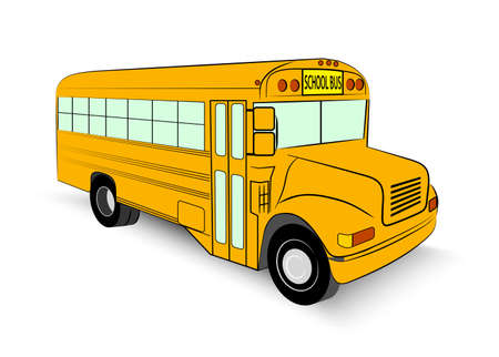 yellow schoolbus: school bus in vector illustration