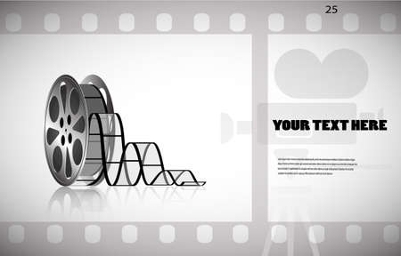cine-film in the frame vector background Vector