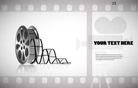 3d film: cine-film in the frame vector background