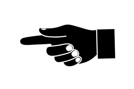 hand pointing direction Vector