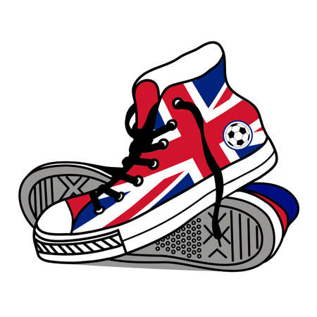 drawing old athletic shoes Vector