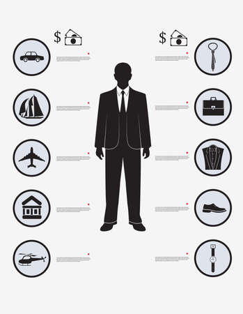 solvency: infographic financial solvency businessman