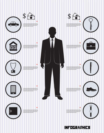 infographic financial solvency businessman Vector