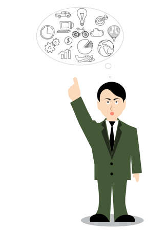 outstretched: business ideas man with outstretched finger