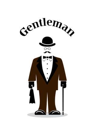 image of the gentleman illustration Vector