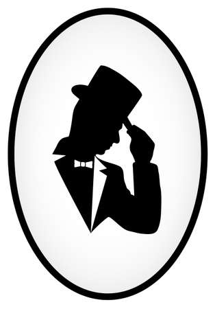 gothic style: icon of the gentleman Illustration