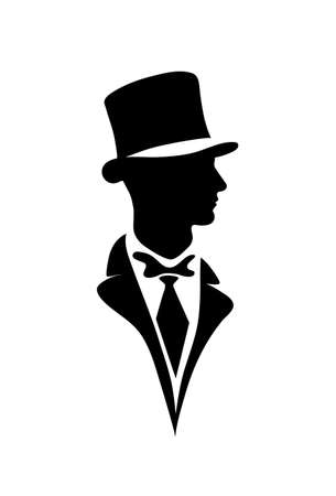 top hat: icon of the gentleman Illustration