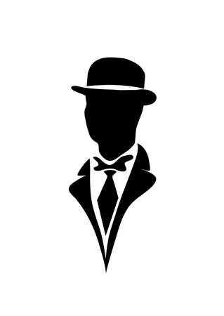 gothic design: icon of the gentleman Illustration