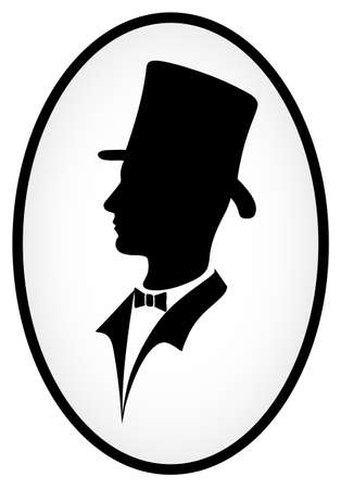 icon of the gentleman Illustration