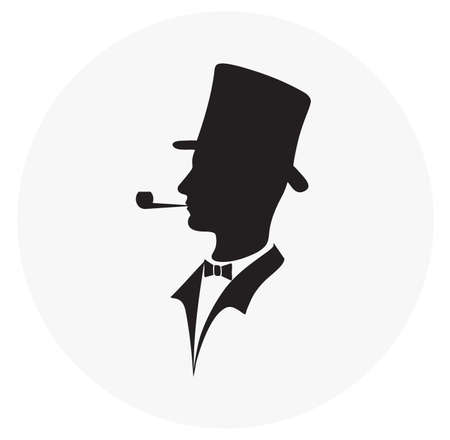 icon of the gentleman Vector