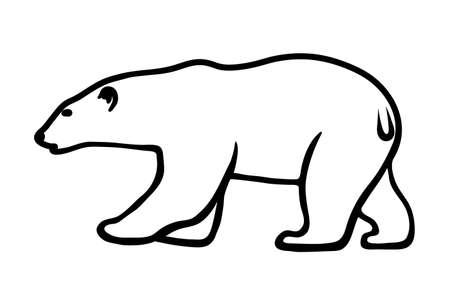 polar bear on a white background Vector