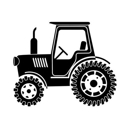 truck tractor: tractor on a white background