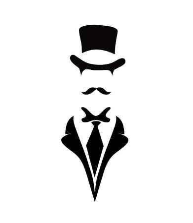 icon of the gentleman Vector