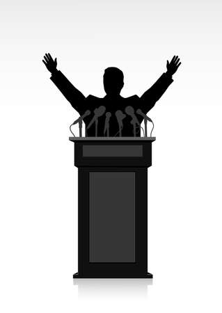 man on the podium