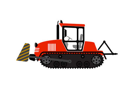 vigorous: illustration a tractor with a ladle on a white background