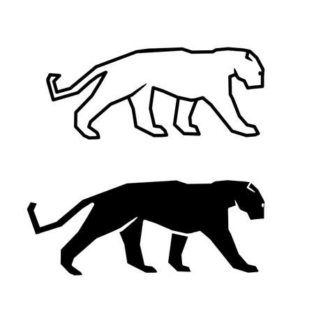 cat silhouette on a white background Illustration