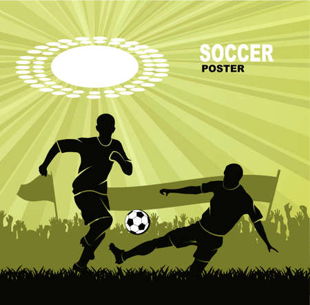 sports background of football subject Vector
