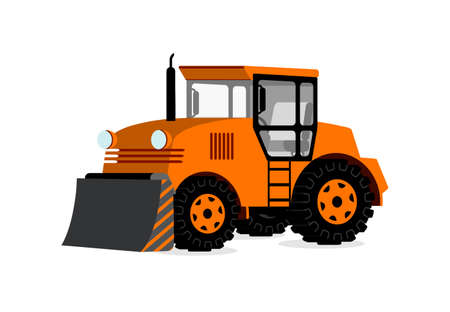tractor in 3D on white background Vector