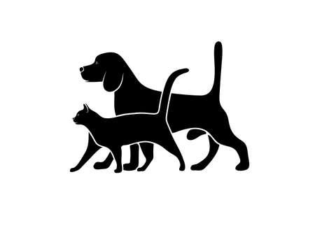 Silhouet van huisdieren Stockfoto - 29833731