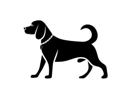 Perros silueta  Foto de archivo - 30033258