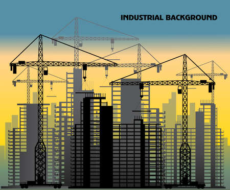 high rise: industrial background Illustration