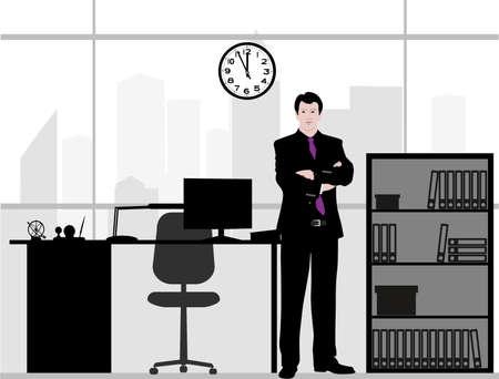 オフィスのビジネスマン  イラスト・ベクター素材
