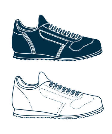 running shoe: drawing of sports shoes