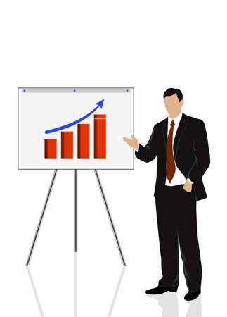 person shined: silhouette of a businessman holding training Illustration