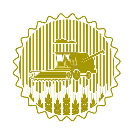 tenure: icon combine harvester of wheat ears Illustration