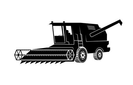 combine harvester on a white background Vector