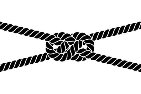 rope knot on a white background Vettoriali