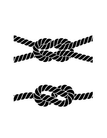 rope knot on a white background Illustration