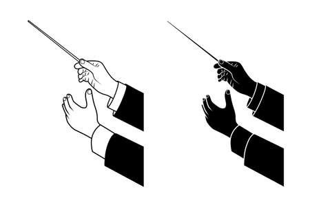 hand drawing conductor Vector
