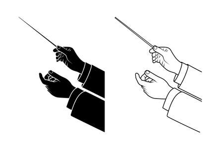 hand drawing conductor