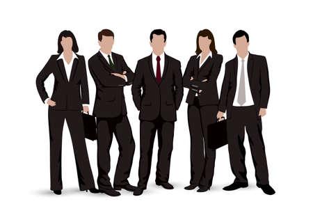 Disegni uomini d'affari su uno sfondo bianco Archivio Fotografico - 31343528