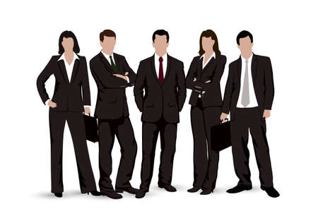 drawings businessmen on a white background Stok Fotoğraf - 31343528