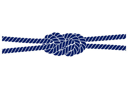 rope knot on a white background Vectores