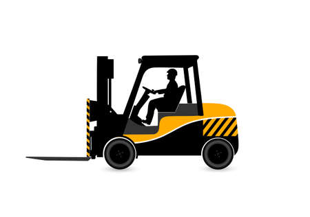 lift truck: loader on a white background